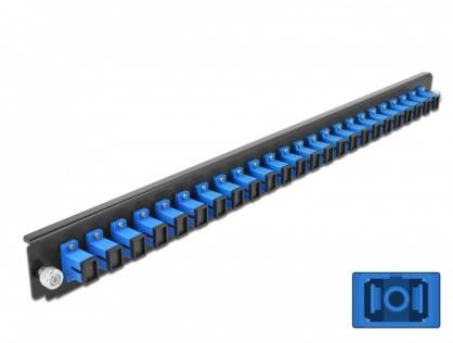 """Panou 19"""" pentru carcasa 24 porturi SC Simplex OS2 albastru, Delock 43351"""
