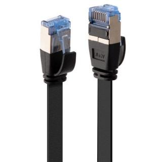 Cablu de retea RJ45 Cat.6A U/FTP Flat 10m Negru, Lindy L47485