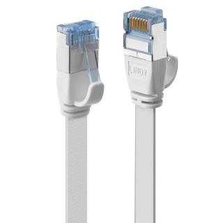 Cablu de retea RJ45 Cat.6A U/FTP Flat 1m Alb, Lindy L47541