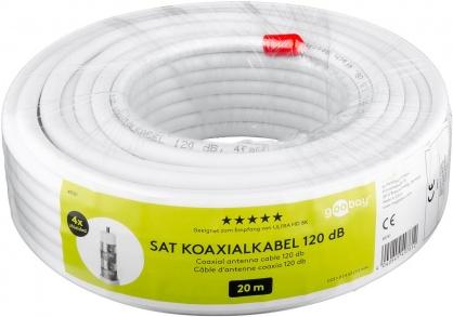 Rola 20m cablu antena coaxial 120 dB, Goobay 49761