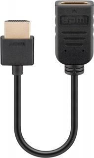 Cablu prelungitor HDMI 4K@60Hz Flex T-M 0.1m, Goobay G49979