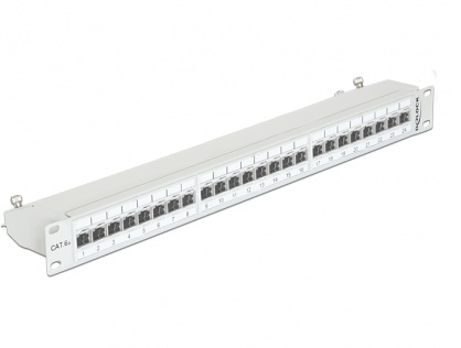 "Patch Panel 19"" 24 Porturi Cat.6A FTP Gri, Delock 43319"