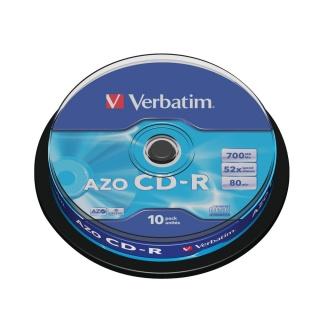 Set 10 buc CD-R 700MB/80min/52x, Verbatim 43437