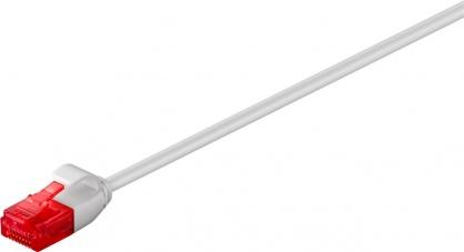 Cablu de retea slim RJ45 cat. 6 UTP 0.15m Gri, Goobay G71545