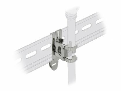 Clema pentru cablu diametru 3 - 8 mm cu montare pe sina DIN, Delock 66440