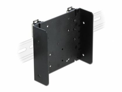 """Set de montare pe sina DIN pentru microcontroler sau dispozitive de 3.5"""", Delock 66292"""