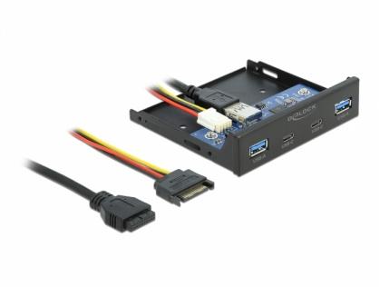 """Front Panel 3.5"""" USB 3.2 Gen 1 cu 2 x USB-C + 2 x USB-A, Delock 64049"""