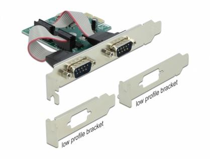 PCI Express la 2 x Serial RS-232, Delock 90007