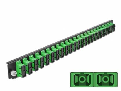 """Panou 19"""" pentru carcasa 24 porturi SC Duplex OS2 verde, Delock 43364"""