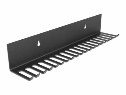 Organizator cabluri 318 x 65mm montare perete, Delock 66729