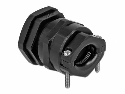 Garnitura de etansare a cablului PG29 cu protectie uzura/indoire Negru, Delock 60361