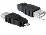 Adaptor OTG USB 2.0 A la micro USB B M-T, Delock 65325