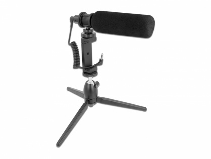 Microfon vlogging pentru smartphone-uri si camere DSLR, Delock 66582