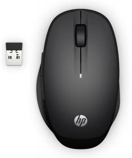 Mouse wireless si bluetooth Negru, HP 6CR71AA