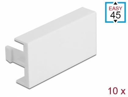 Set 10 placi de acoperire pentru modul Easy 45 Alb 45 x 22.5 mm, Delock 81301