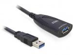 Cablu prelungitor activ USB 3.0 T-M 5m, Delock 83089