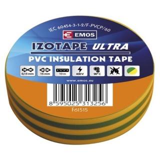 Banda izolatoare  PVC 15mm/10m Galben/Verde, ZVPEP07