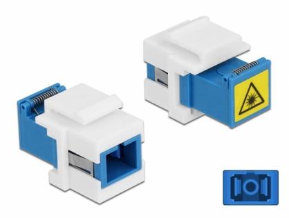 Modul keystone SC Simplex M-M cu protectie laser flip in interior, Delock 86832