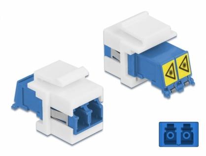 Modul keystone LC Duplex M-M cu protectie laser flip in interior, Delock 86834