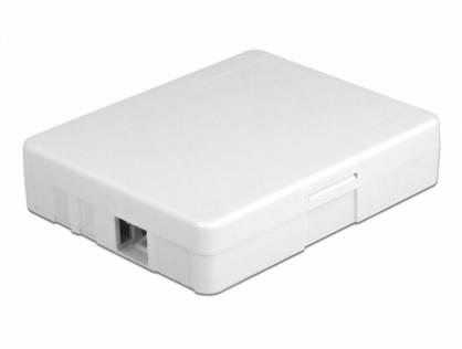 Cutie pentru 2 x cuple fibra optica SC Simplex / LC Duplex Alba, Delock 86842
