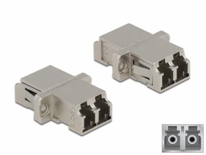 Cupla fibra optica LC Duplex - LC Duplex Single mode M-M metal, Delock 86874