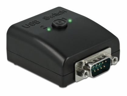Multiplicator & switch bidirectional 1 x Serial DB9 la 2 x USB 2.0-B, Delock 87756