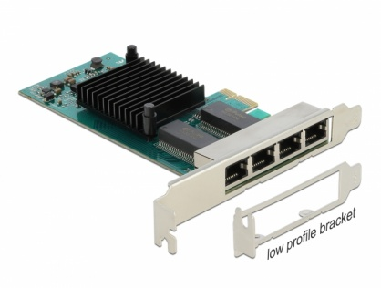 Placa PCI Express la 4 x Gigabit LAN Intel i350, Delock 88504