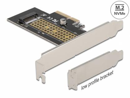 PCI Express la NVMe M.2 Key M LPFF, Delock 90047