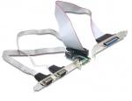 Mini PCIe I/O PCIe full size 2 x serial RS-232, 1 x parallel, Delock 95232