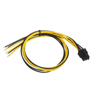 Cablu de alimentare PCIe 6 pini la fire deschise 45cm, AK-SC-19