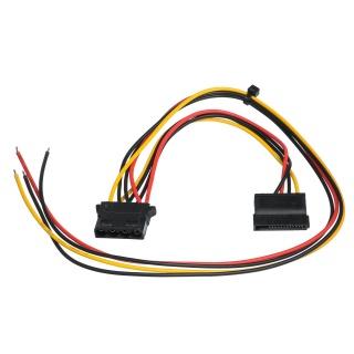 Cablu de alimentare Molex 4 pini + SATA 15 pini la fire deschise, AK-SC-23