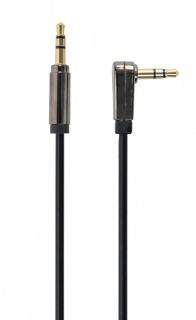 Cablu audio jack stereo 3.5mm unghi 90 grade T-T 1.8m, Gembird CCAP-444L-6