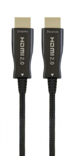 Cablu activ optic HDMI 4K@60Hz T-T 50m Negru, Gembird CCBP-HDMI-AOC-50M