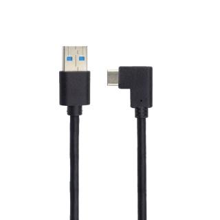 Cablu MYCON USB 3.2 Gen 1 la USB-C unghi 90 grade T-T 0.5m, CON2000