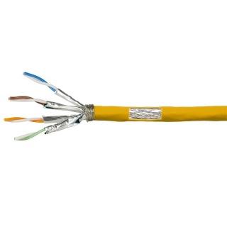 Rola cablu de retea RJ45 Cat.7A S / FTP 50m Galben, Logilink CPV0069