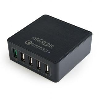 Incarcator priza 1 x USB Quick Charge 3.0 + 4 x USB, Energenie EG-UQC3-02