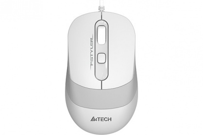 Mouse USB optic A4Tech Fstyler Alb/Argintiu, FM10 White (include timbru verde 0.1 lei)
