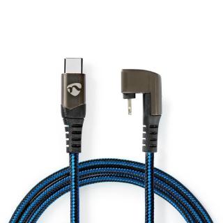 Cablu de date si incarcare USB-C la Apple Lightning MFI unghi 180 grade 1m, Nedis GCTB39650AL10