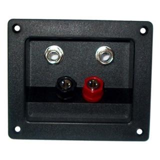 Conector pentru difuzor 2 x banana + 2 x jack 6.3mm cu montare panou, GNI0243