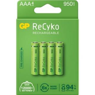 Set 4 acumulatori ReCyko 1000mAh AAA (LR03) 1.2V NiMH, GP Batteries