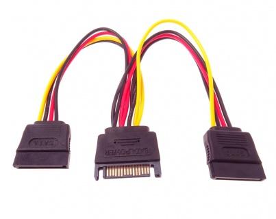 Cablu de alimentare SATA la 2 x SATA, kfsa-21