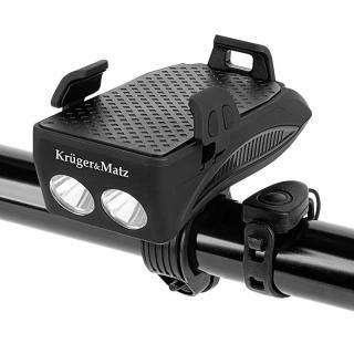 Suport smartphone 3 in 1 + baterie externa + lanterna pentru bicicleta, KM0125