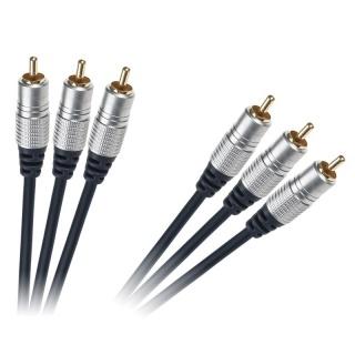 Cablu 3 x RCA la 3 x RCA T-T 1.5m, KPO3843-1.5