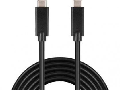 Cablu USB 3.2 Gen 2x2-C la USB-C 3A 20Gbit/s T-T 2m, ku31cg2bk