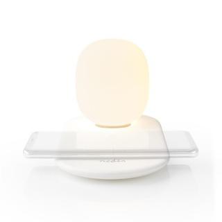Lampa LED cu incarcator wireless Qi 10W, Nedis LTLQ10W1WT