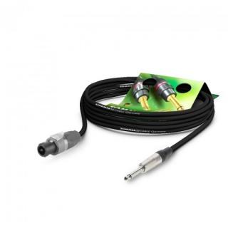 Cablu audio speakon la jack mono 6.35mm 10m Negru, NEUTRIK ME21-225-1000-SW