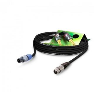 Cablu audio speakon la XLR 3 pini 5m Negru, NEUTRIK ME22-225-0500-SW