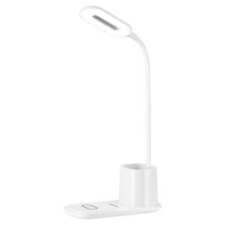 Lampa birou cu incarcare wireless 5W/7.5W/10W Alb, RB-6302-W