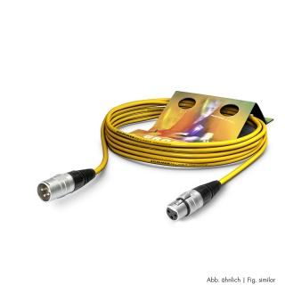 Cablu prelungitor XLR 3 pini T-M Galben 10m, SGHN-1000-GE