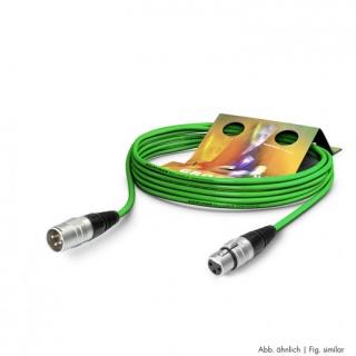 Cablu prelungitor XLR 3 pini T-M Verde 10m, SGHN-1000-GN